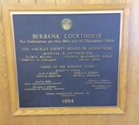 Burbank Court Dedication Plaque